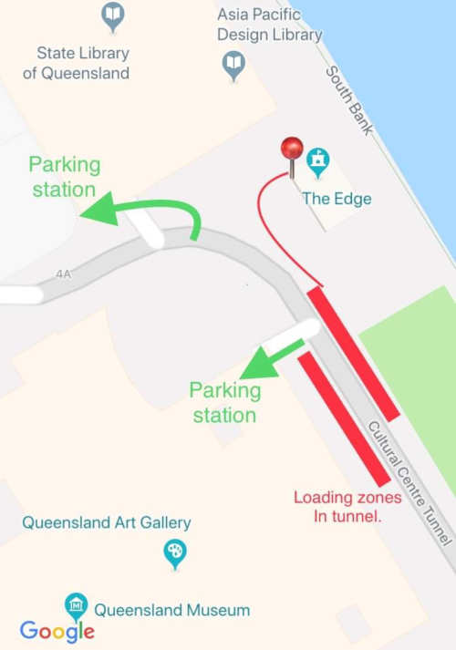 Map of Parking and loading zones